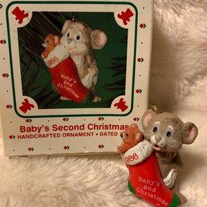 Hallmark Baby's Second Christmas Ornament Mouse